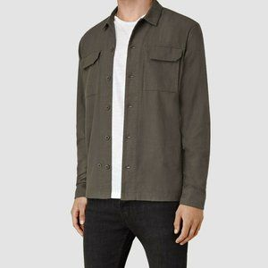 AllSaints Guerra Cotton Long Sleeve Button Up XL